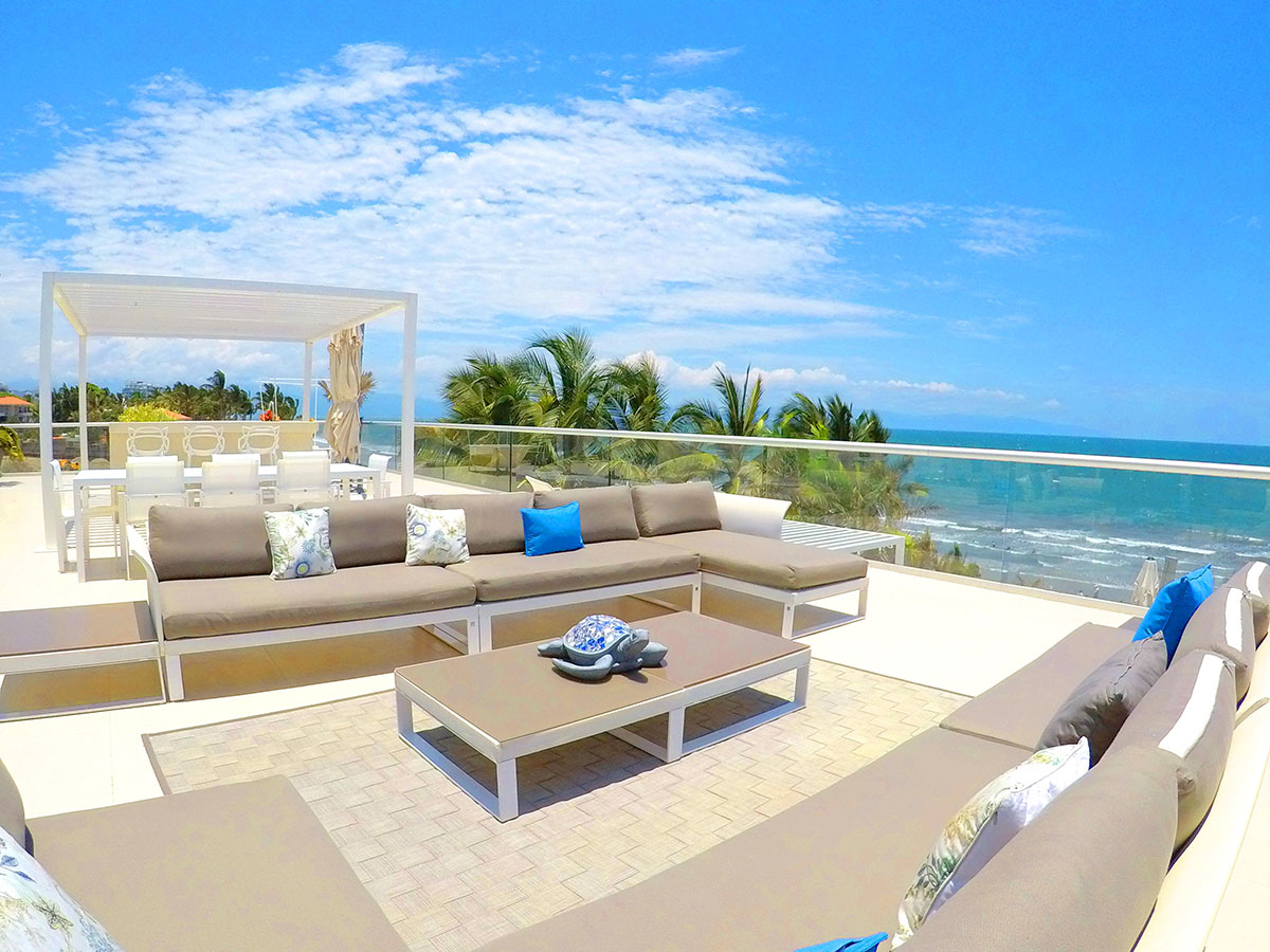 Amplio Terraza Envolvente- Penthouse frente al mar, Península Nuevo Vallarta México