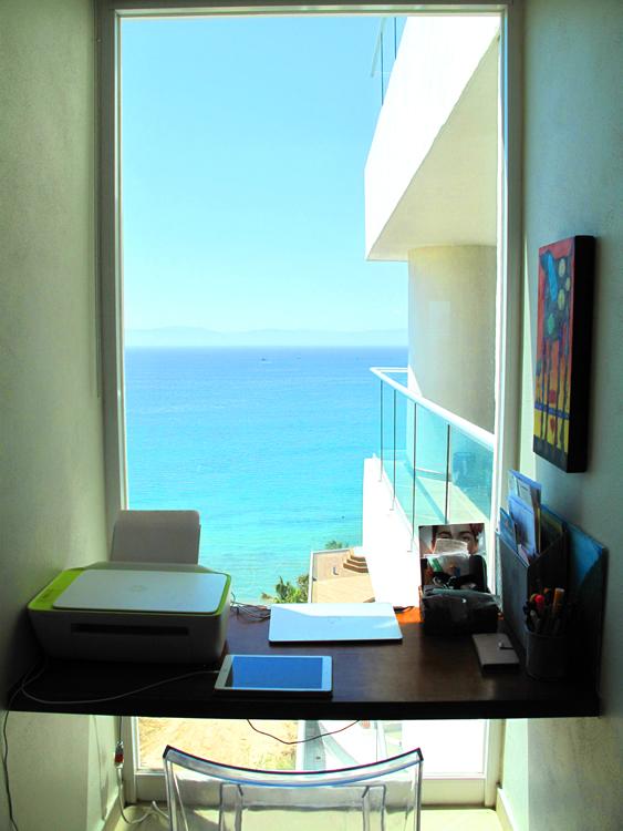 Escritorio con vista al mar Condominio Barlovento en venta La Cruz de Huanacaxtle