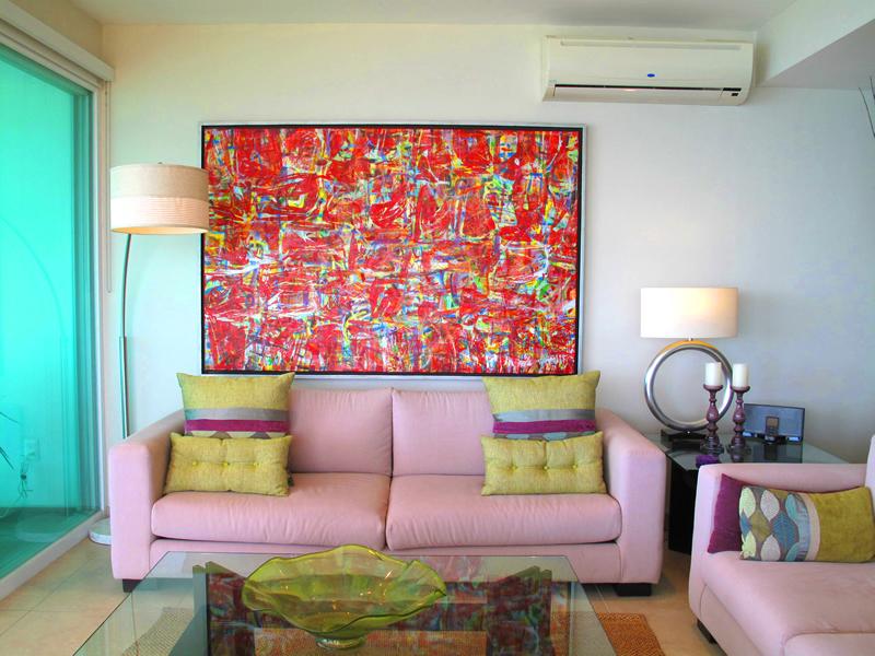 Decoración sala Condominio Barlovento en venta La Cruz de Huanacaxtle