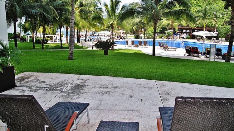 Deck Pool View Villa Magna Ground Floor Condominium Beach-Front Nuevo Vallarta