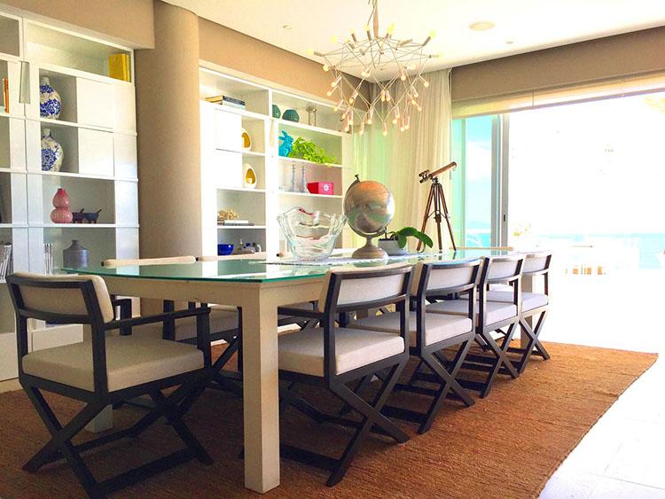 Dining Table -Ocean Front Corner Penthouse In Peninsula Nuevo Vallarta