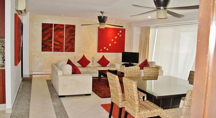 Dining Area from Entrance Villa Magna Ground Floor Condominium Beach-Front Nuevo Vallarta