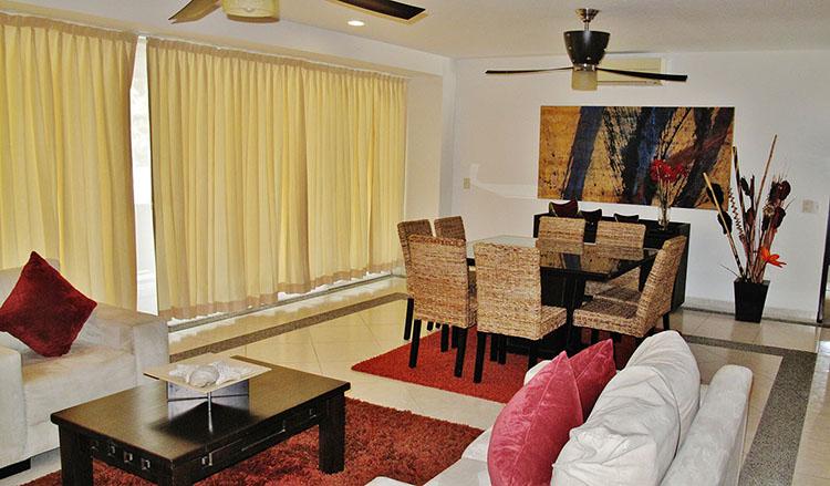 Dining Area windowVilla Magna Ground Floor Condominium Beach-Front Nuevo Vallarta