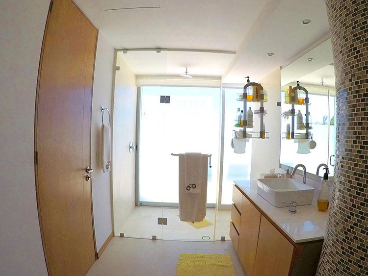 Master Bathroom, Penthouse Beach-Front Peninsula Nuevo Vallarta Mexico