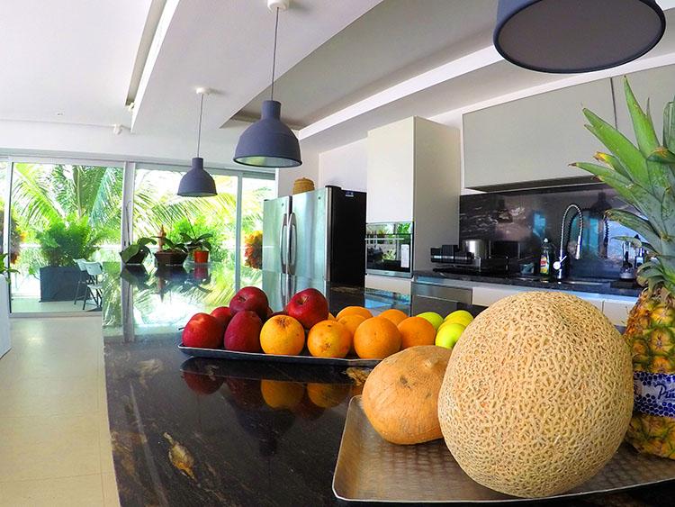Modern Kitchen European Style Cabinets, Penthouse Beach-Front Peninsula Nuevo Vallarta Mexico