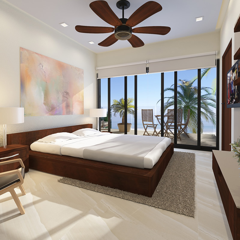 Recámara Penthouse en Venta frente a la playa Riviera Nayarit México