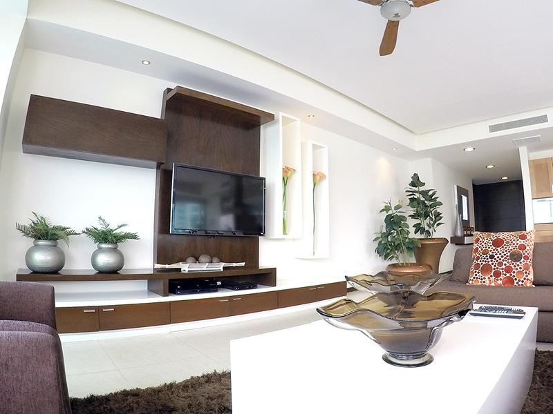 Sala-TV-Condominio-en-Venta-en-la-torre-mas-solicitada- Peninsula-Vallarta-Torre-II