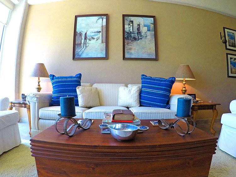 Sofa -2 Bedroom Condominium in 3.14 Living Nuevo Vallarta