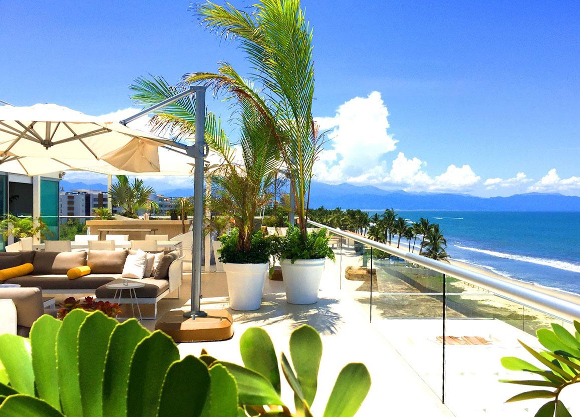 South View-Ocean Front Corner Penthouse In Peninsula Nuevo Vallarta