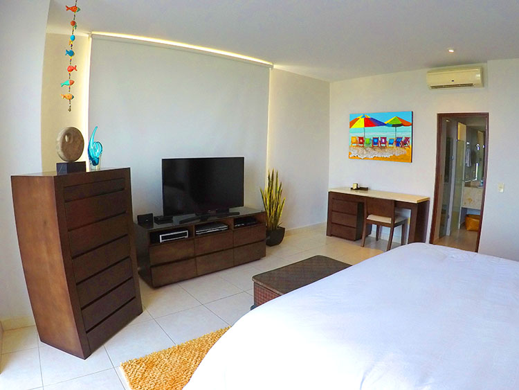 Televisor en recamara- Departamento en Venta Villa Magna Nuevo Vallarta Nayarit
