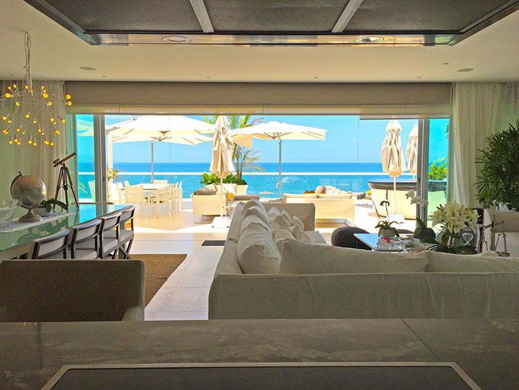 View From Kitchen-Ocean Front Corner Penthouse In Peninsula Nuevo Vallarta