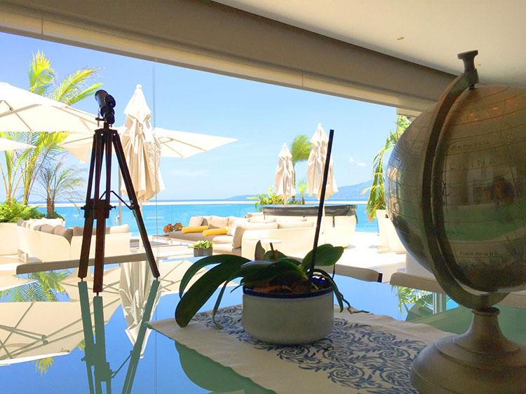 View From Living Room-Ocean Front Corner Penthouse In Peninsula Nuevo Vallarta