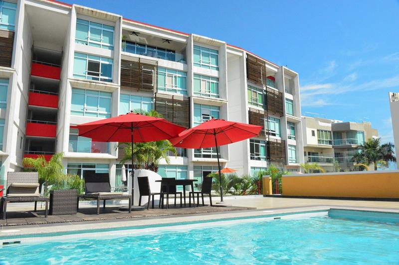 Alberca Condominio amueblado en venta Living 3.14 Nuevo Vallarta