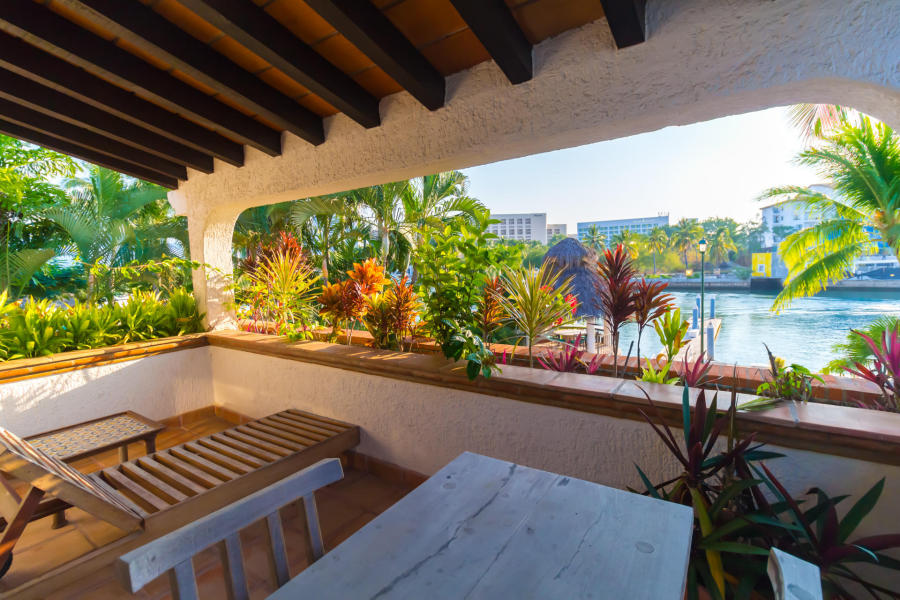 Area de descanso Casa Punta Iguana en Marina Vallarta Puerto Vallarta
