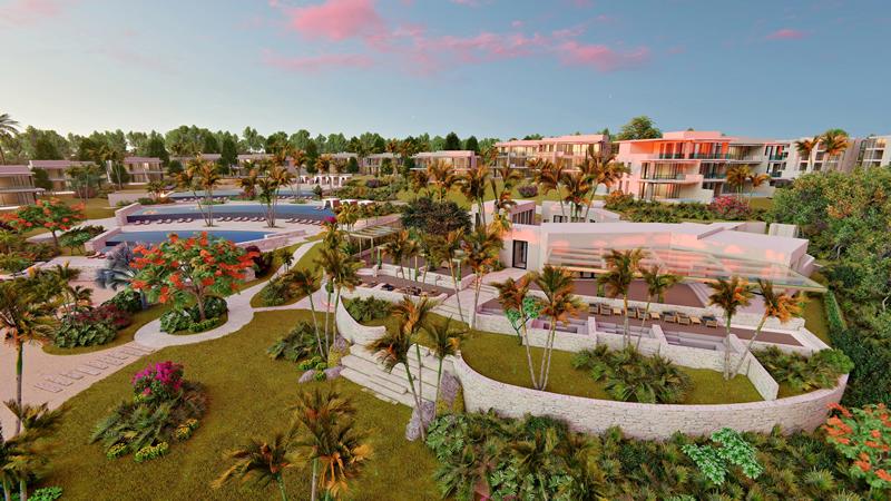 Áreas comunes Desarrollo Susurros del Corazón Punta de Mita Nayarit México