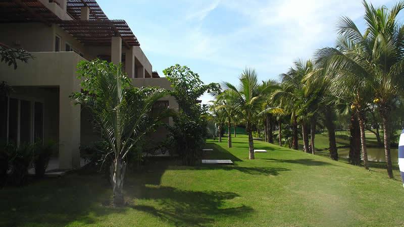 Áreas verdes Desarrollo Isla Palmares en el Tigre Club de Golf en Nuevo Vallarta