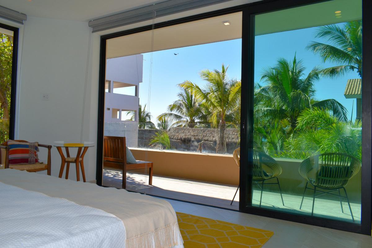 Balcón habitación Condominio en venta frente a la playa San Pancho Nayarit