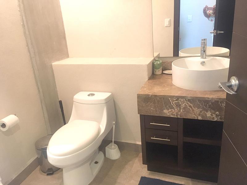 Baño huespedes Penthouse en Venta Nuevo Vallarta en Condominio 3.14 Living