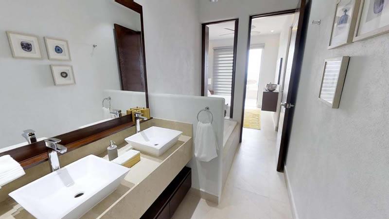 Baño principal Condominio en venta Punta Paraíso San Pancho Riviera Nayarit