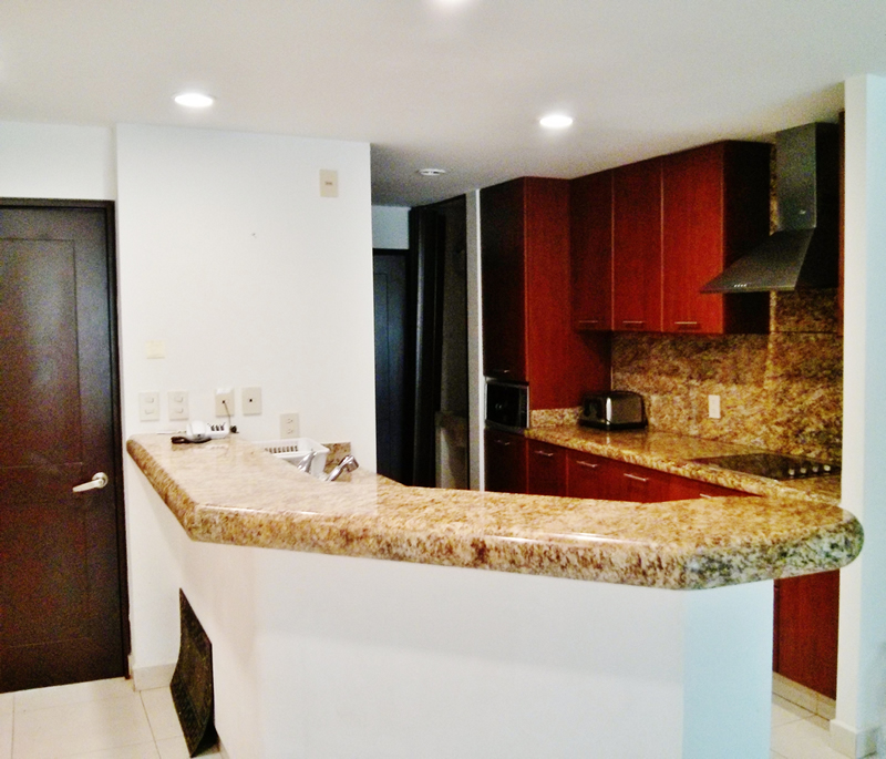 Barra cocina Condominio Villa Magna Nuevo Vallarta