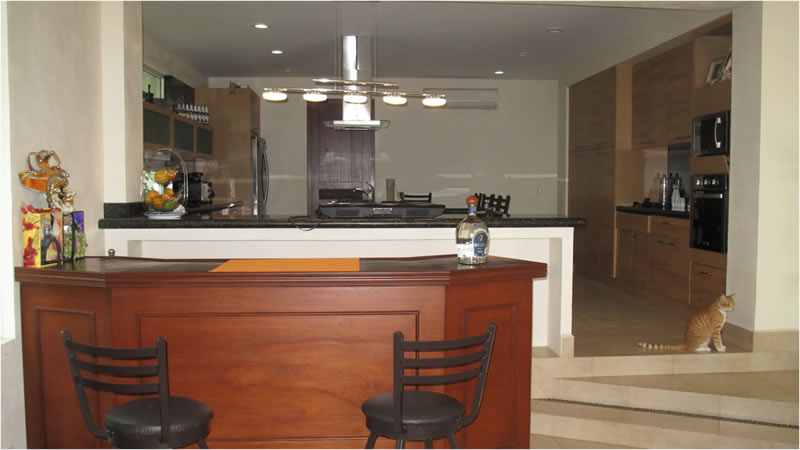 Barra cocina Villa Jaguar en Paradise Village Golf y Country Club