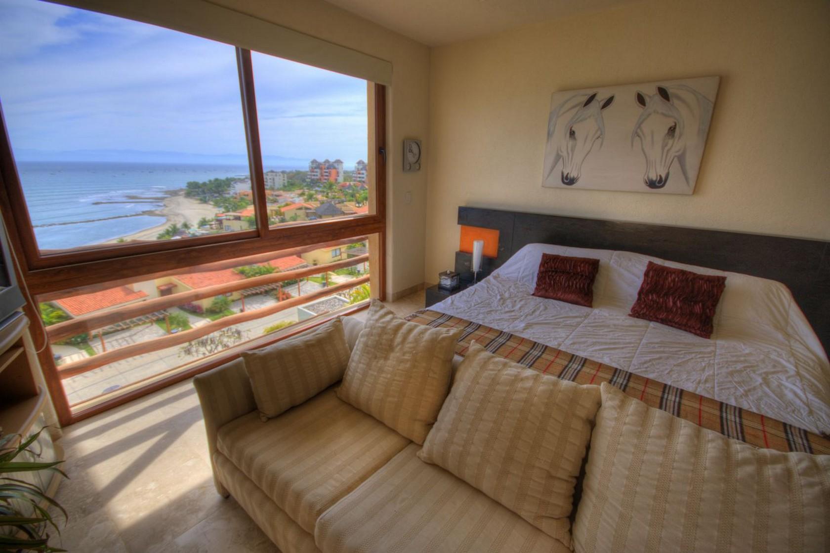 Cama recámara Departamento en venta Punta Esmeralda Resort La Cruz de Huanacaxtle