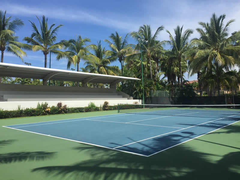 Cancha de tenis Paradise Village El Tigre Golf Country Club Nuevo Vallarta