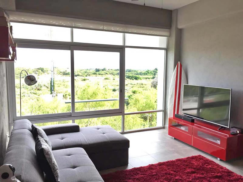 Centro de entretenimiento Departamento en Venta Nuevo Vallarta Nayarit 3.14 Living