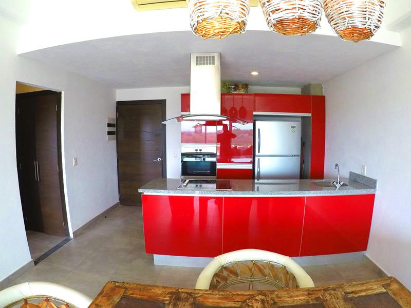 Cocina Apartamento en Venta 3.14 Living Nuevo Vallarta Nayarit