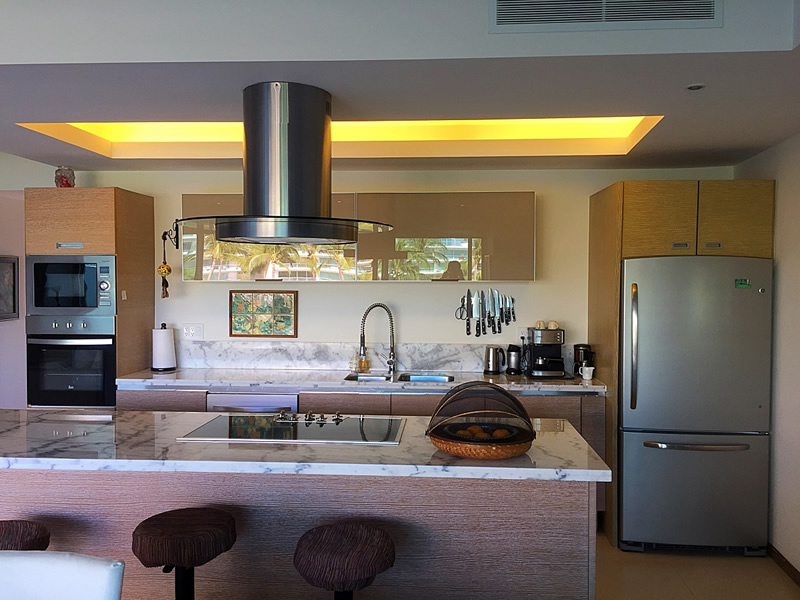 Cocina completamente equipada Condominio en Venta Península Nuevo Vallarta Nayarit México Desarrollo Habitacional