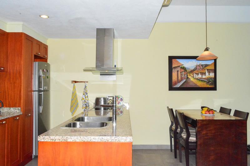 Cocina Condominio amueblado en venta Living 3.14 Nuevo Vallarta