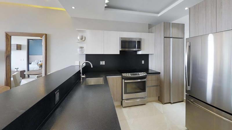 Cocina Condominio en venta Punta Paraíso San Pancho Riviera Nayarit