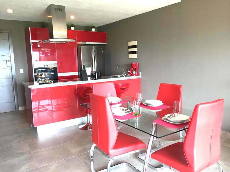 Cocina Departamento en Venta Nuevo Vallarta Nayarit 3.14 Living