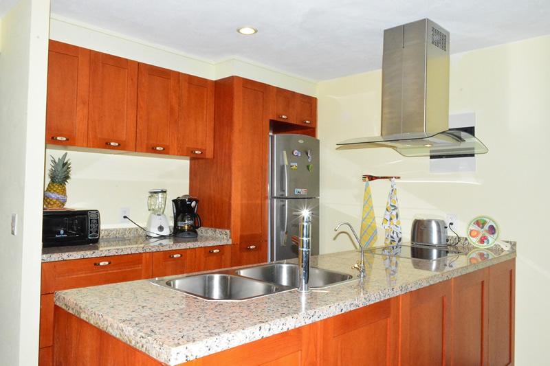 Cocina integral Condominio amueblado en venta Living 3.14 Nuevo Vallarta