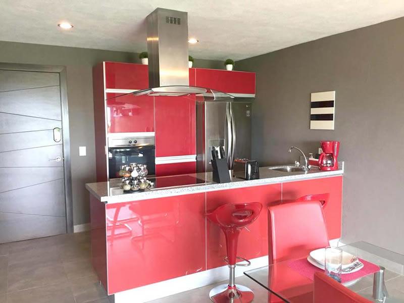 Cocina integral Departamento en Venta Nuevo Vallarta Nayarit 3.14 Living