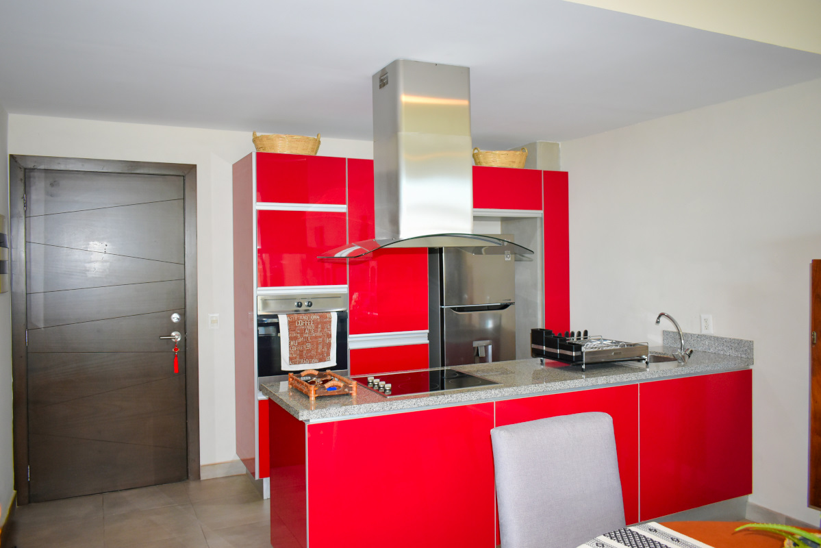 Cocina integral Penthouse Nuevo Vallarta en Venta 3.14 Living