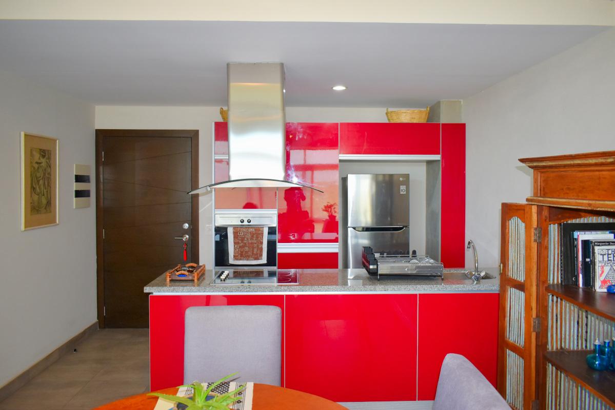 Cocina Penthouse Nuevo Vallarta en Venta 3.14 Living