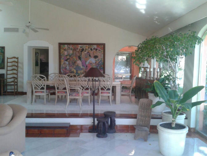 Comedor Casa Punta Iguana en Marina Vallarta en Puerto Vallarta