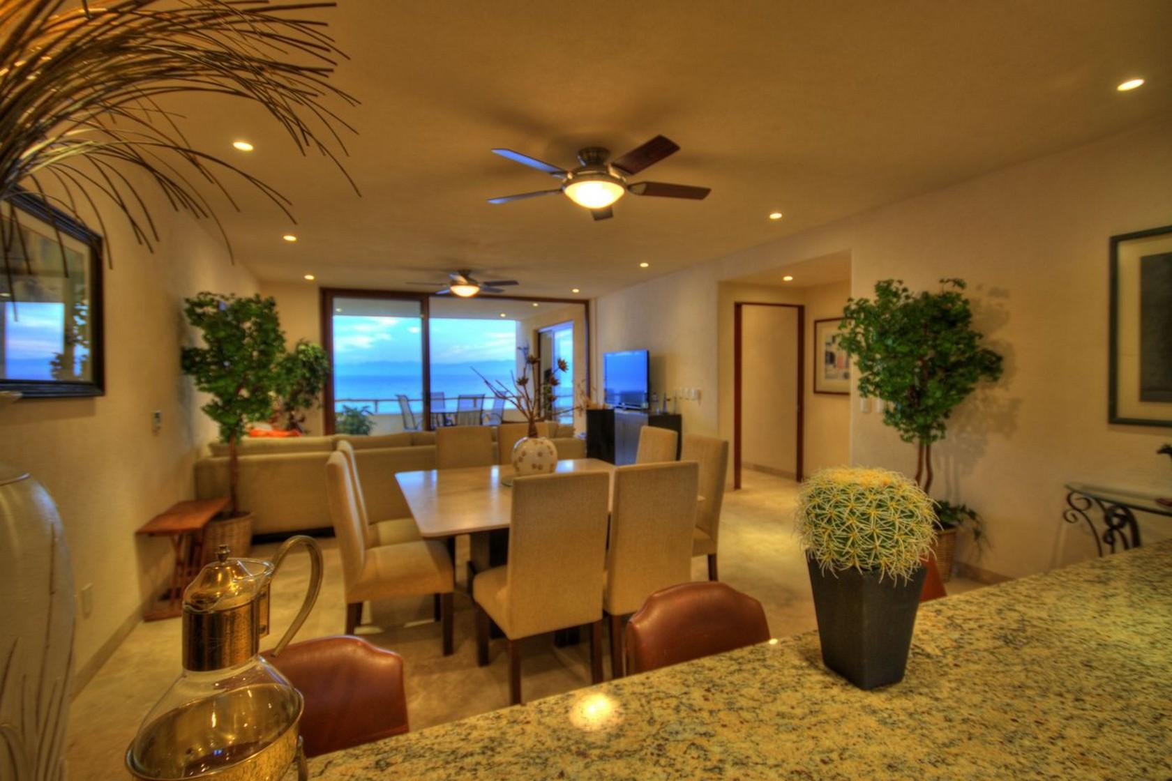 Comedor Departamento en venta Punta Esmeralda Resort La Cruz de Huanacaxtle