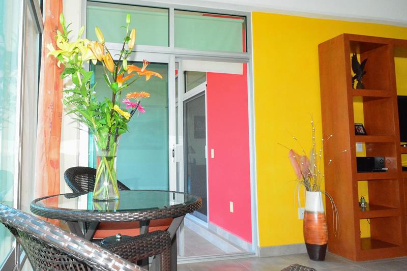 Decoración mesa Condominio amueblado en venta Living 3.14 Nuevo Vallarta