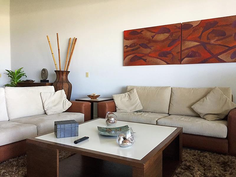 Decoración sala Departamento en Venta VillaMagna Nuevo Vallarta Nayarit