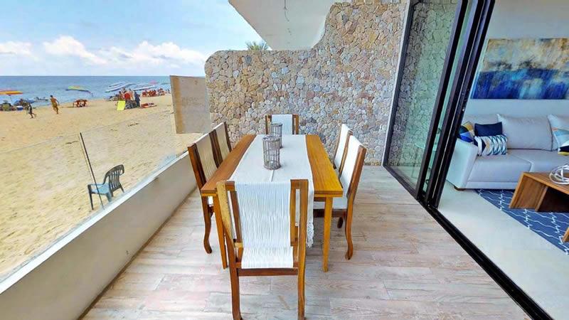 Desayunador terraza Condominio en venta Punta Paraíso San Pancho Riviera Nayarit