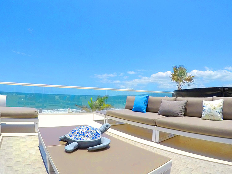 Detalle de Tortuga- Penthouse frente al mar-Peninsula Nuevo Vallarta Mexico