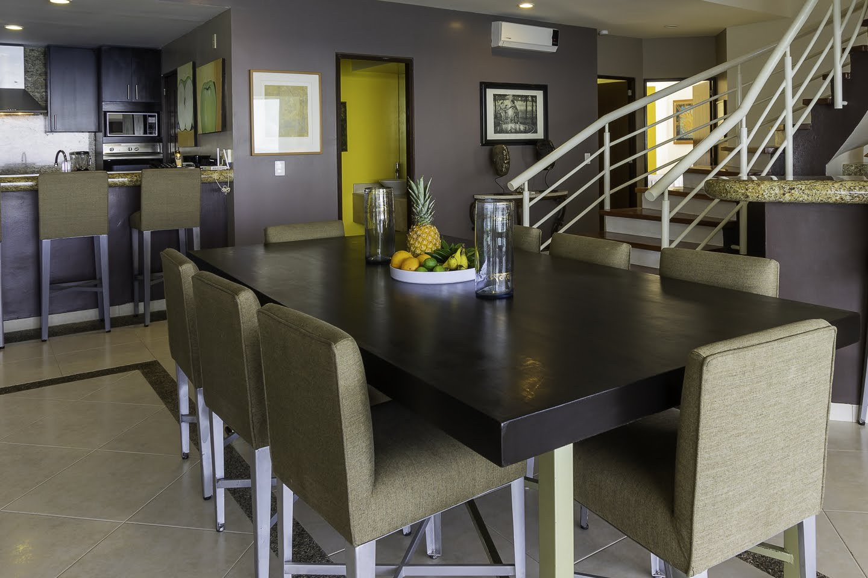 Dinning room Beachfront Penthouse Luxury Condo Nuevo Vallarta