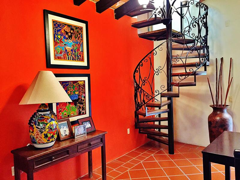 Escalera de caracol Villa en bucerías Nayarit Lanigan