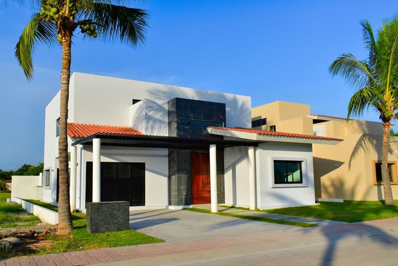 Fachada Casa en venta Residencial Los Tigres Nuevo Vallarta