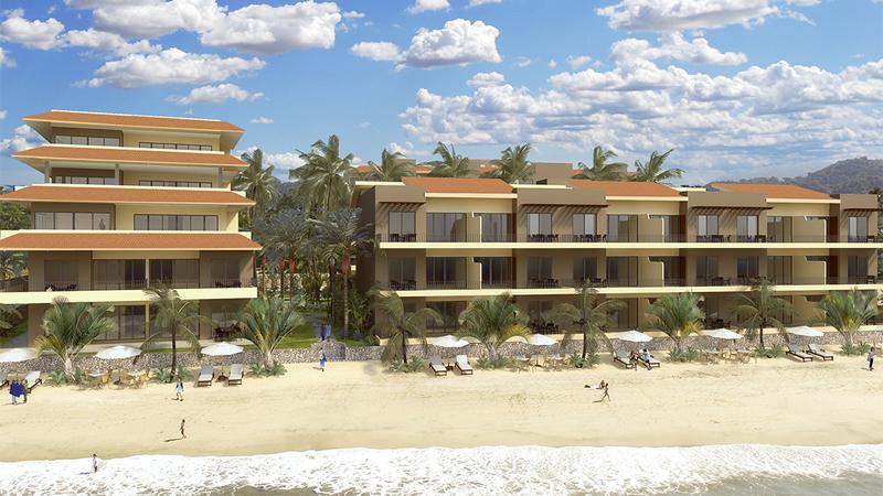Fachada playa Condominio en venta Punta Paraíso San Pancho Riviera Nayarit