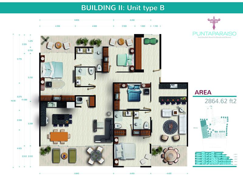 Floor Plane Phase II Penthouse for sale Riviera Nayarit México