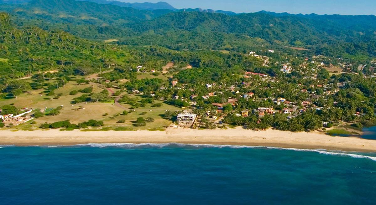 Foto aérea Punta Paraíso San Francisco Riviera Nayarit México
