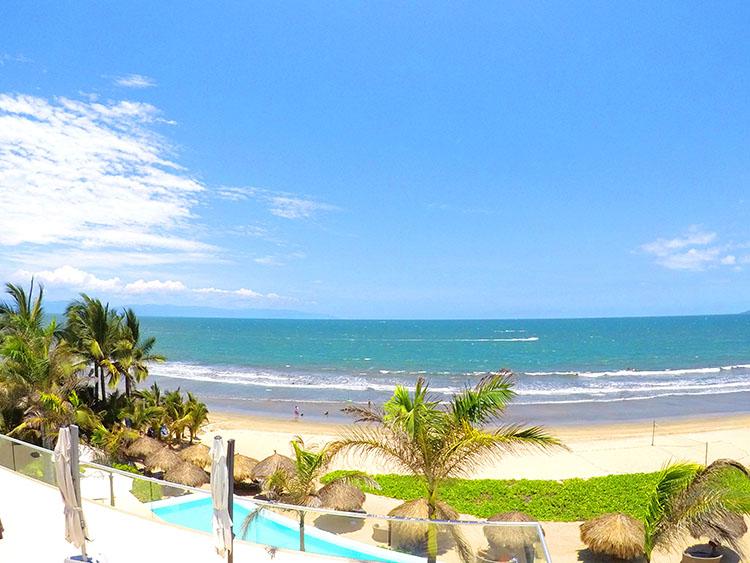 Front View Penthouse Beach-Front Peninsula Nuevo Vallarta Mexico